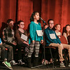 Special to the Record-Eagle/ Keith King<br /> Emily Kozlowski spells a word Sunday during the 2018 Grand Traverse Regional Spelling Bee at the State Theatre in Traverse City.