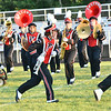 WARREN  DILLAWAY   Star Beacon <br /> The Jefferson High School band moves to a new formation during Grand Valley High School Band Nght on Saturday evening in Orwell.