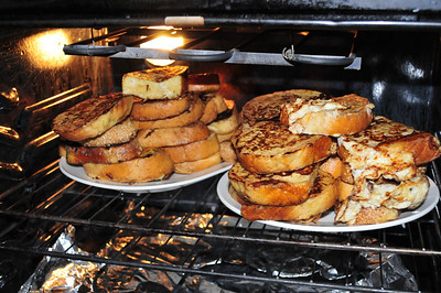 A veritable mountain of french toast.