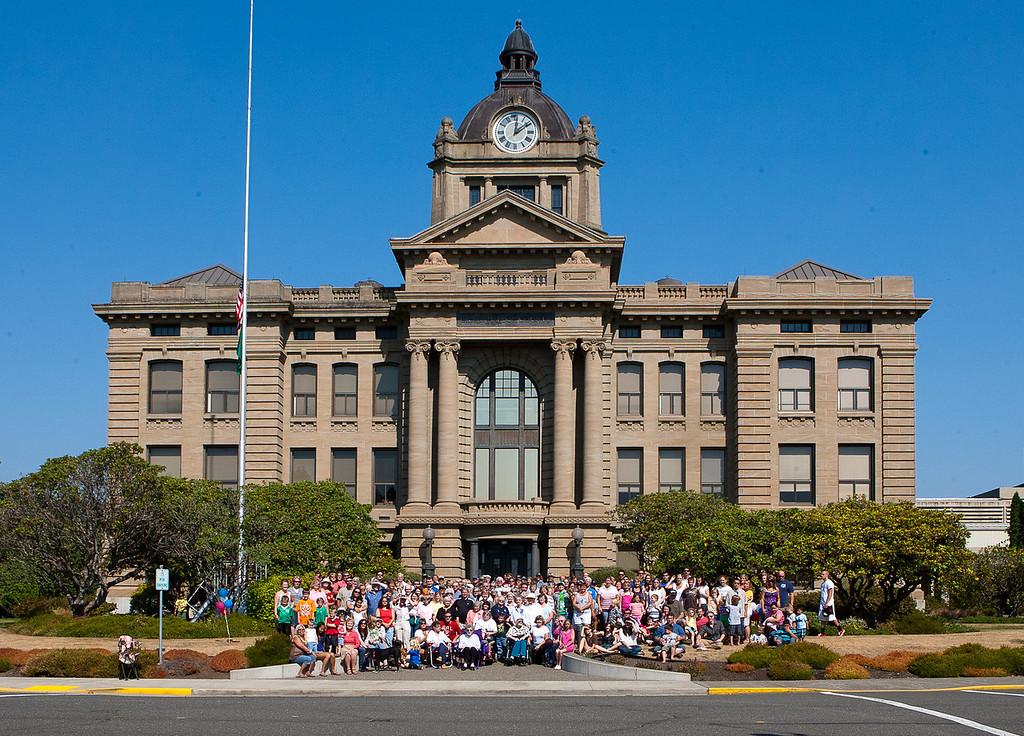 Grays Harbor County Court House 100 year photo