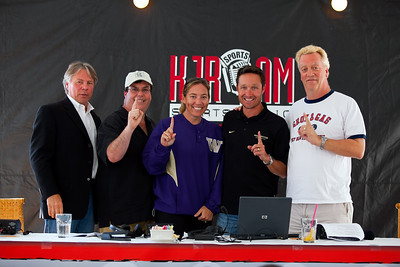 Voice of the Huskies, Bob Rondeau  -  Gas -  UW Womens Softball Coach Heather Tarr - UW Mens Cross Country Coach Greg Metcalf - Groz