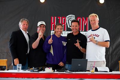 Voice of the Huskies, Bob Rondeau  -  Gas -  UW Womens Softball Coach Heather Tarr - UW Mens Cross Country Coach Greg Metcalf - Groz