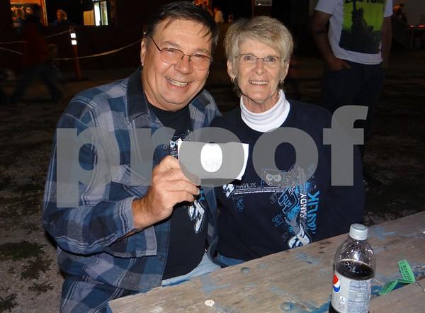 Gary Steffen, the 50/50 ticket winner, and Donna Havlik.