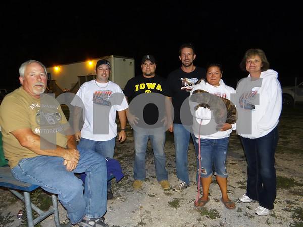 Bruce Reiter, Jamie Reiter, Todd Klocko, Howie Schwering, Adella Anderson, Roxi (dog), and Lynette Niemand.