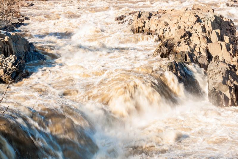 Long Exposure of Rushing Water at Great Falls