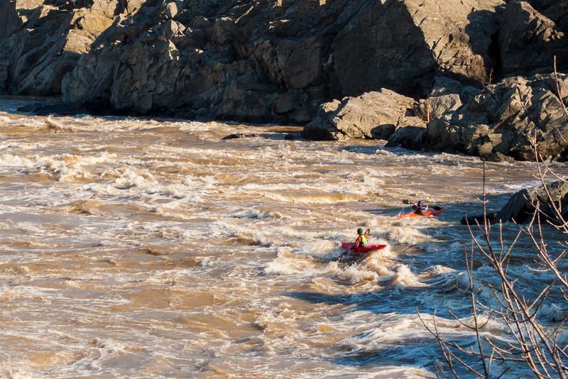 Kayakers in Great Falls