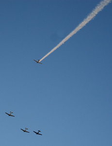 T-6 Fly Over, Missing man formation.