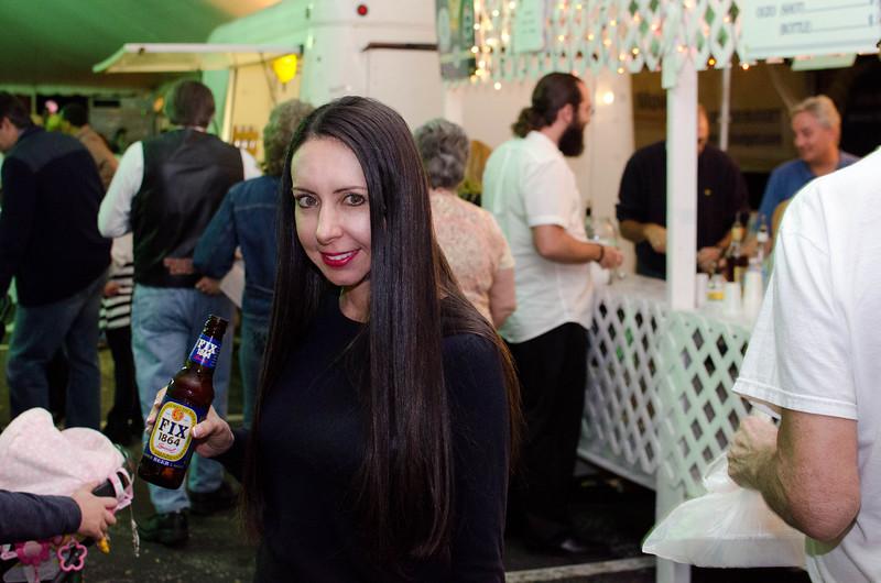Enjoying some Greek beer.