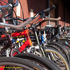 Bicycle parking. Green Festival 2010, Concourse Exhibition Center, 635 8th St. (at Brannan), San Francisco, California.