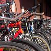 Bicycle parking. Green Festival 2010, Concourse Exhibition Center, 635 8th St. (at Brannan), San Francisco, California.