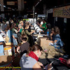 Registration Desk and queue with banner. Green Festival 2010, Concourse Exhibition Center, 635 8th St. (at Brannan), San Francisco, California.