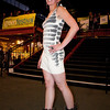 Model in Eco-Fashion Show. Bright Green Lifestyle Stage, Green Festival 2010, Concourse Exhibition Center, 635 8th St. (at Brannan), San Francisco, California.