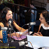 Rose Aguilar and Malihe Razazan hosting KALW live broadcast. Green Festival 2010, Concourse Exhibition Center, 635 8th St. (at Brannan), San Francisco, California.