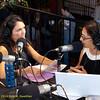 Rose Aguilar and Malihe Razazan hosting KALW live broadcast. Green Festival 2010, Concourse Exhibition Center, 635 8th St. (at Brannan), San Francisco, California.