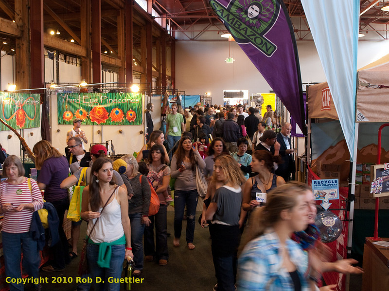 Side aisle center exhibition area. Green Festival 2010, Concourse Exhibition Center, 635 8th St. (at Brannan), San Francisco, California.