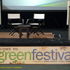 Center Stage with sign. Green Festival 2010, Concourse Exhibition Center, 635 8th St. (at Brannan), San Francisco, California.
