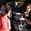 Rose Aguilar interviewing Kevin Danaher (founder Global Exchange and Green Festival) during KALW live broadcast. Green Festival 2010, Concourse Exhibition Center, 635 8th St. (at Brannan), San Francisco, California.
