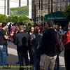 Registration line with banner. Green Festival 2010, Concourse Exhibition Center, 635 8th St. (at Brannan), San Francisco, California.