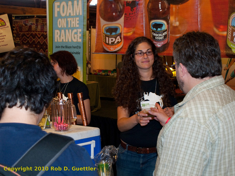 Bison Brewing booth. Organic Beer and Wine Garden, Green Festival 2010, Concourse Exhibition Center, 635 8th St. (at Brannan), San Francisco, California.