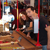 Silly booth workers at Clif Bar booth. Green Festival 2010, Concourse Exhibition Center, 635 8th St. (at Brannan), San Francisco, California.