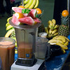 Strawberry Fields blender and fruit. San Francisco Green Festival 2009, Concourse Exhibition Center, 635-8th St., San Francisco, California.