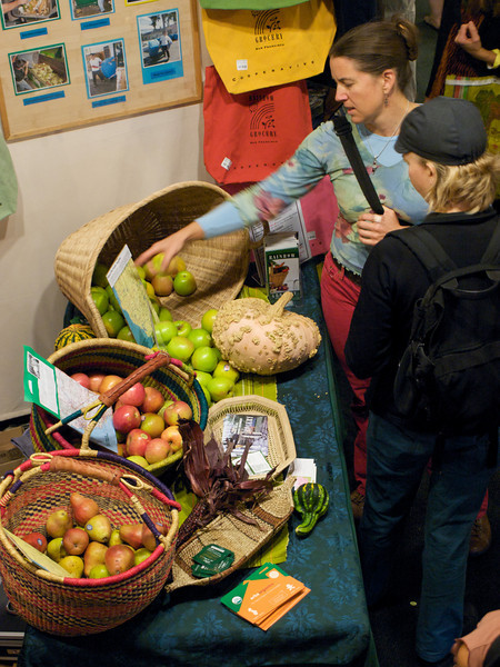 Rainbow Grocery fruit display. San Francisco Green Festival 2009, Concourse Exhibition Center, 635-8th St., San Francisco, California.