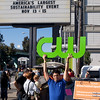 CW promotion outside 8th St. entrance. San Francisco Green Festival 2009, Concourse Exhibition Center, 635-8th St., San Francisco, California.