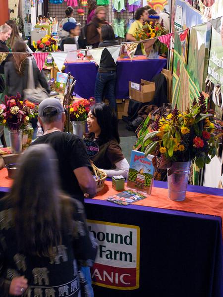 Earthbound Farm Organic booth. San Francisco Green Festival 2009, Concourse Exhibition Center, 635-8th St., San Francisco, California.
