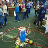Flower Mandala by Aaron Ezra Ableman in Geo-Frequencies exhibit.  San Francisco Green Festival 2009, Concourse Exhibition Center, 635-8th St., San Francisco, California.