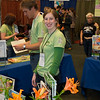 Green America booth worker. San Francisco Green Festival 2009, Concourse Exhibition Center, 635-8th St., San Francisco, California.