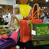 Bags in Global Exchange Store. San Francisco Green Festival 2009, Concourse Exhibition Center, 635-8th St., San Francisco, California.