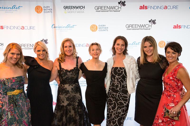 5D3_8592 Eliza Niblock, Ginger Stickel, Colleen deVeer, Renee Zellweger, Christy Turlington, Jenn Bush-Hager and Wendy Reyes