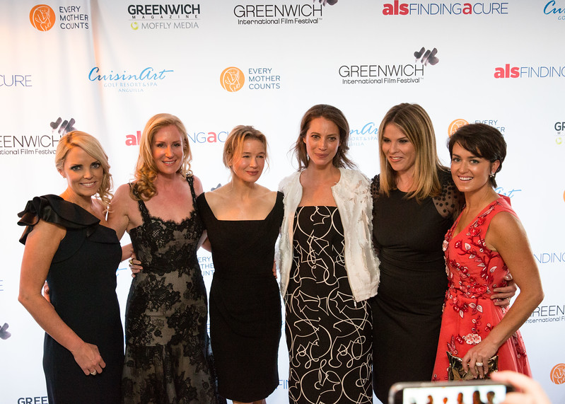 5D3_8590 Ginger Stickel, Colleen deVeer, Renee Zellweger, Christy Turlington, Jenn Bush-Hager and Wendy Reyes