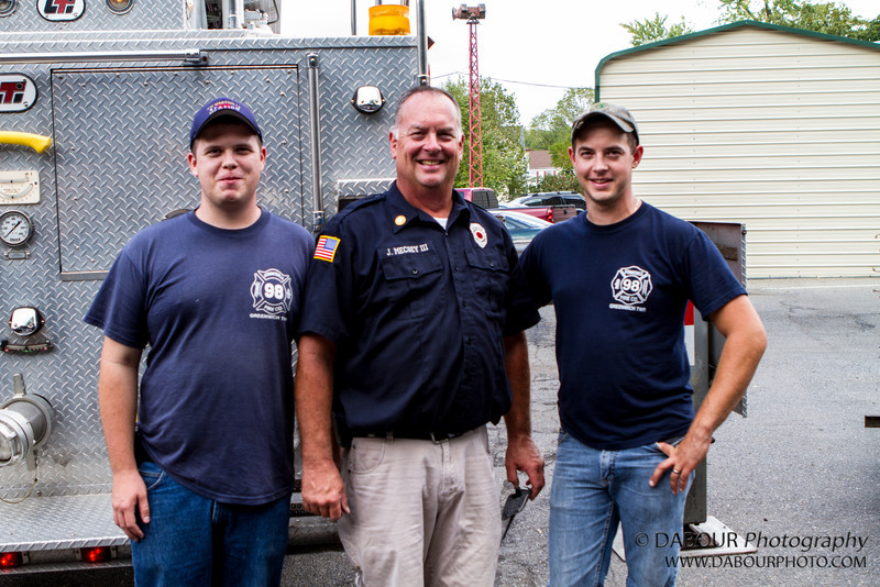 """Thank you to Mike, Joe III and Joe IV for giving me a """"lift"""" at the 2012 Greenwich Township Community day"""