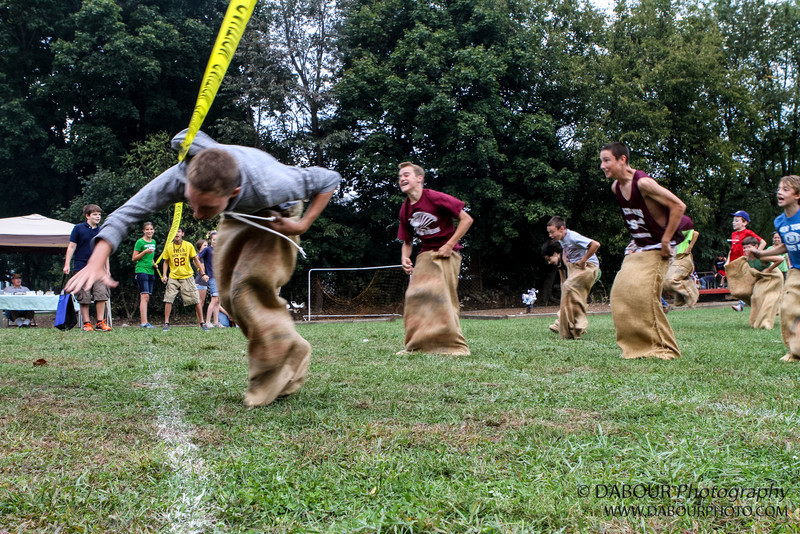 Sack race at the 2012 Greenwich Township Community day