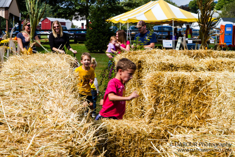 Kids enjoy the hay bale maze at the 2012 Greenwich Twp. Community Day on Saturday. Express-Times photo by | DAVE DABOUR