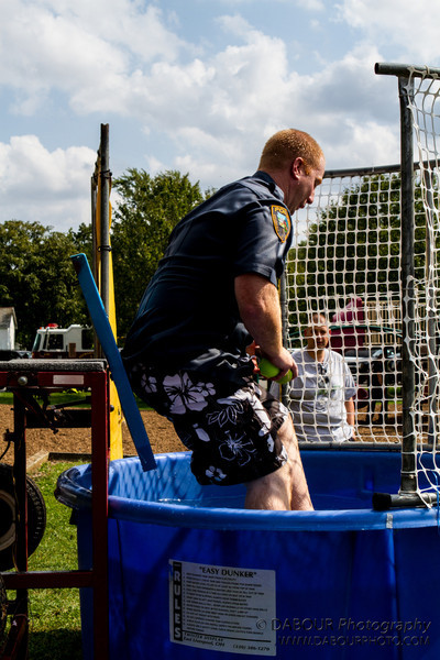 Kevin goes for a swim at the 2012 Greenwich Township Community day
