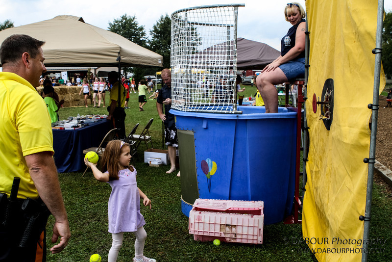 Tonya goes for a swim at the 2012 Greenwich Township Community day