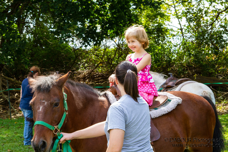 Julie, 5 of Greenwich Twp., NJ enjoys a pony ride at the Greenwich Township Community Day 2012. Express-Times Photo by | DAVE DABOUR