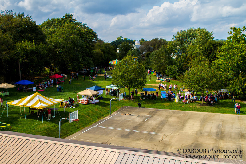 Ariel view of the Greenwich Township Community Day 2012. Express-Times photo by | DAVE DABOUR