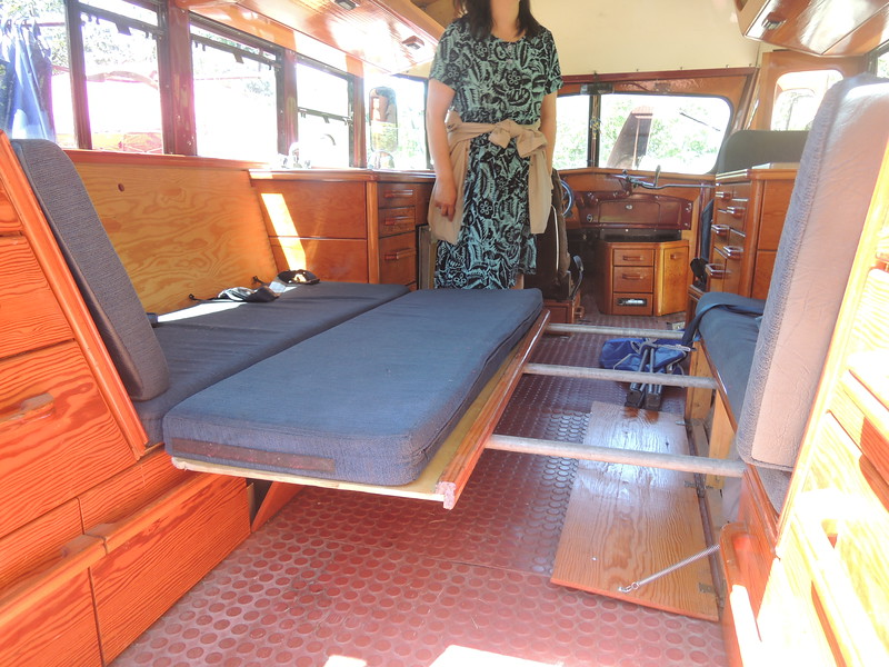 What the 45 Chevy motorhome looked like inside.