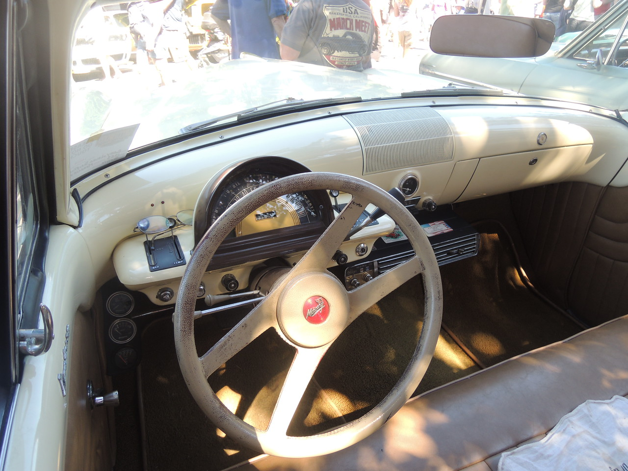 Cockpit of the 1955 Merc