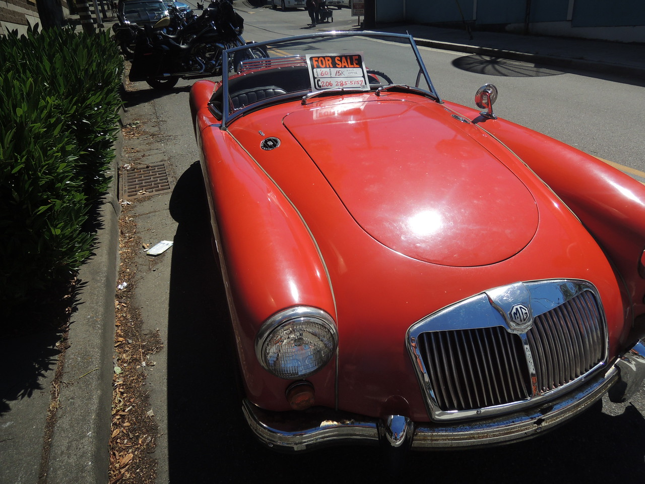 Late 1950's MGA, like the one my god-father drove for years.