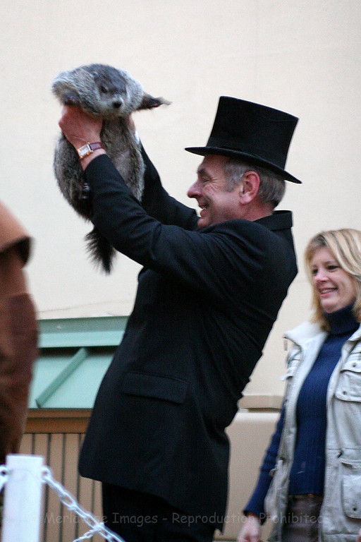 Mayor Lee Fiedler & Murray.  No shadow, Spring is coming early.