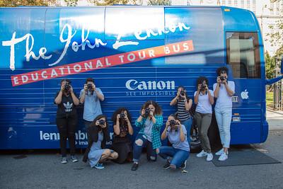 2016_10_17, Grover Cleveland High School, NY, Queens, Bus, Exterior, Canon