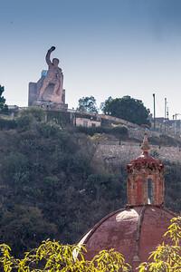 From our balcony, El Pipila & Templo de San Diego