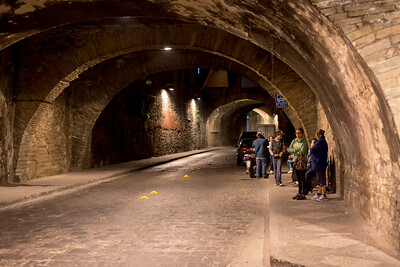 The tunnels!
