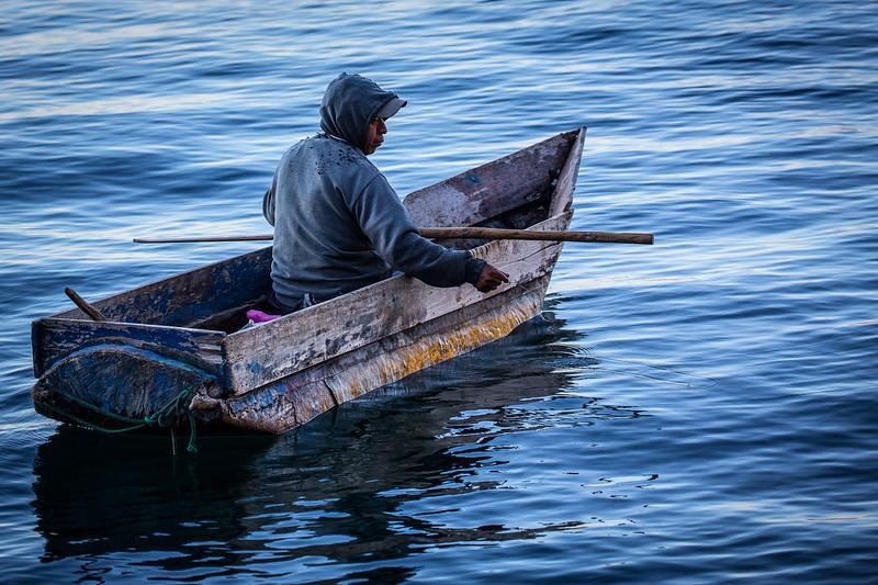 Early Morning Fishing on Lake Atitla