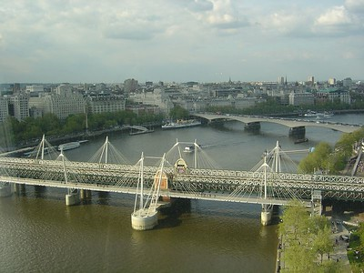A beautiful view of London and the Thames River.