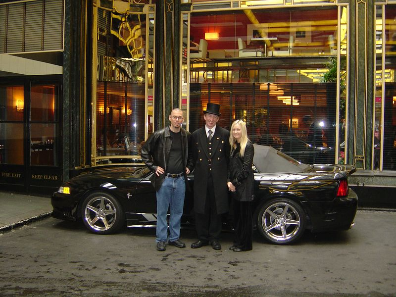 Here we are at the Savoy, where we stayed, with Peter, bellhop extraordinaire. He watched over the car for us.